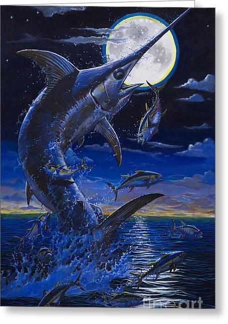 Billfish Foundation Greeting Cards - Moon Doggie Off00124 Greeting Card by Carey Chen