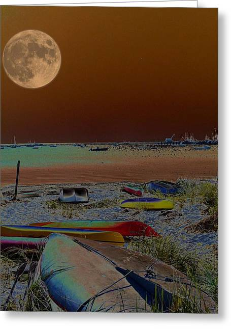 Moon Beach Greeting Cards - Moon Dreams Greeting Card by Robert McCubbin