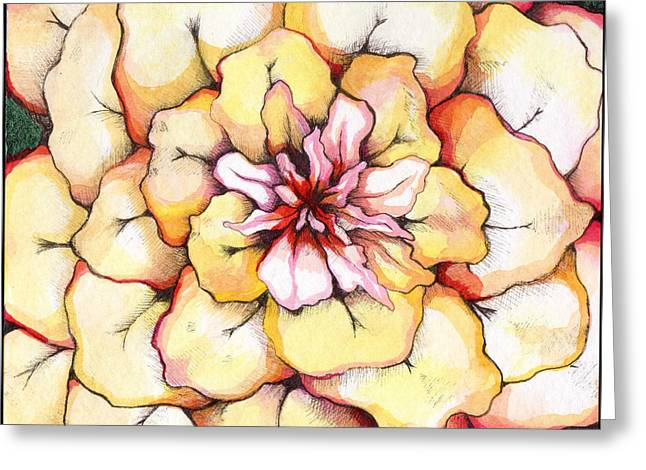 Bloomer Greeting Cards - Moon Flower out of the bloomers and onto the bloom Greeting Card by Shadia Zayed