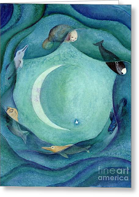 My Ocean Greeting Cards - Moon in Pisces Greeting Card by L T Sparrow