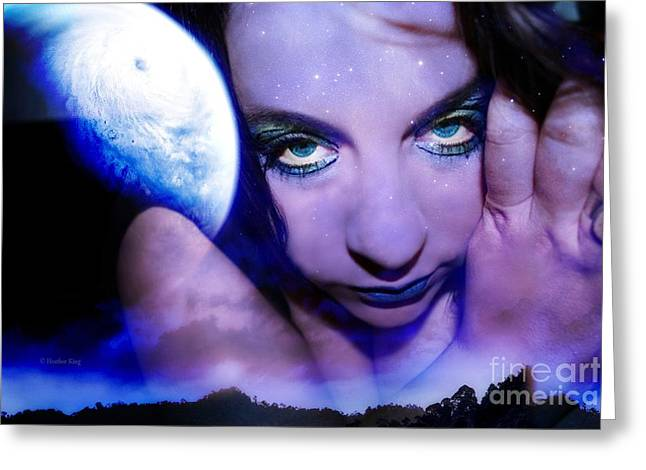 Not In Use Greeting Cards - Moon intoxication Greeting Card by Heather King