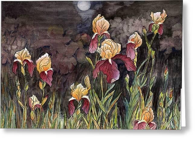 Moon Light At My Backyard Greeting Card by Ping Yan