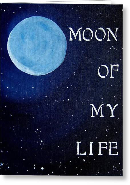 Get Greeting Cards - Moon of My Life Game Of Thrones Art Greeting Card by Michelle Eshleman