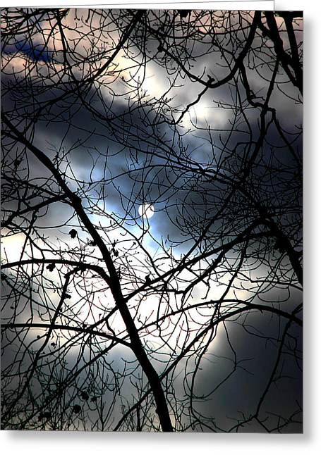 Sad Moon Greeting Cards - Moon or Sun Greeting Card by Valentino Visentini