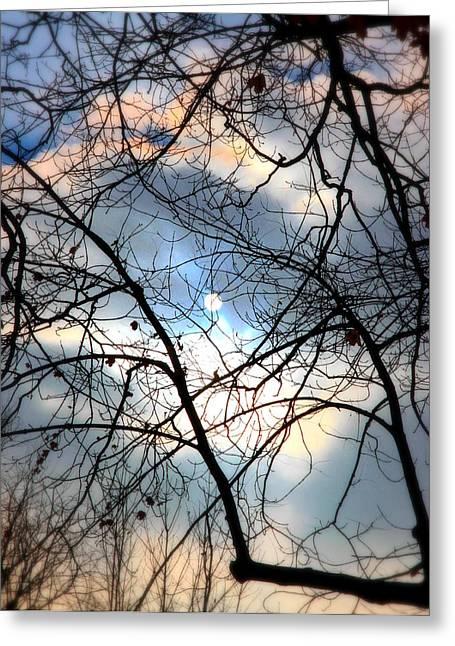 Sad Moon Greeting Cards - Moon or Sun2 Greeting Card by Valentino Visentini