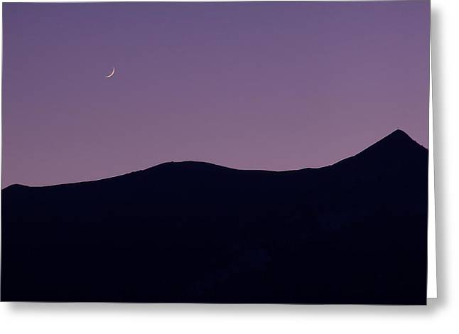 Subtle Colors Greeting Cards - Moon Over Como Greeting Card by Adrian Alford