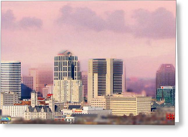 Nashville Tennessee Greeting Cards - Moon Over Nashville Greeting Card by Amy Tyler