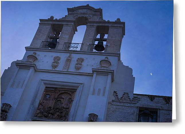 Pardon Greeting Cards - Moon Over Seville Greeting Card by Joan Carroll