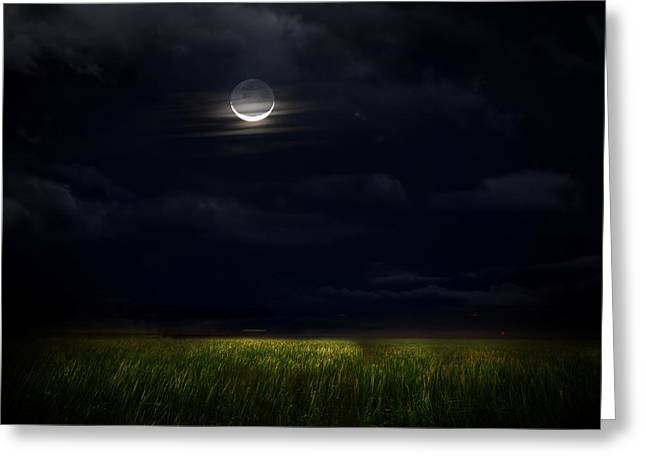 Goodnight Moon Greeting Card by Mark Andrew Thomas