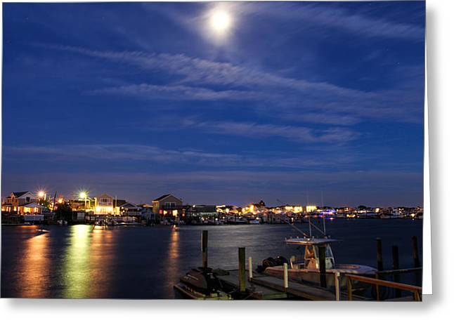 Moon Over Wildwood Greeting Card by Gerald Barton
