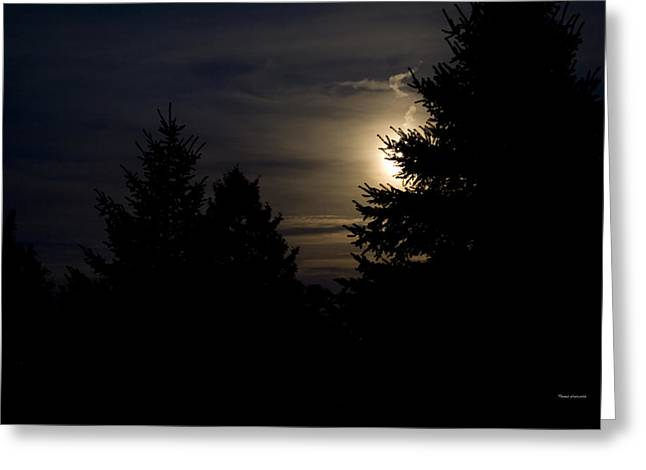 Man In The Moon Greeting Cards - Moon Rising 02 Greeting Card by Thomas Woolworth