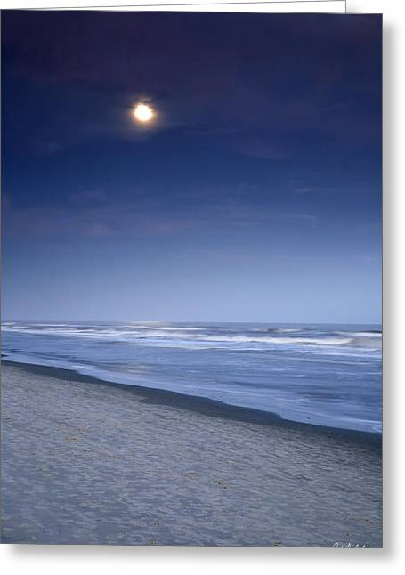 Beaufort County Greeting Cards - Moon Rising Over Hilton Head Greeting Card by Phill  Doherty