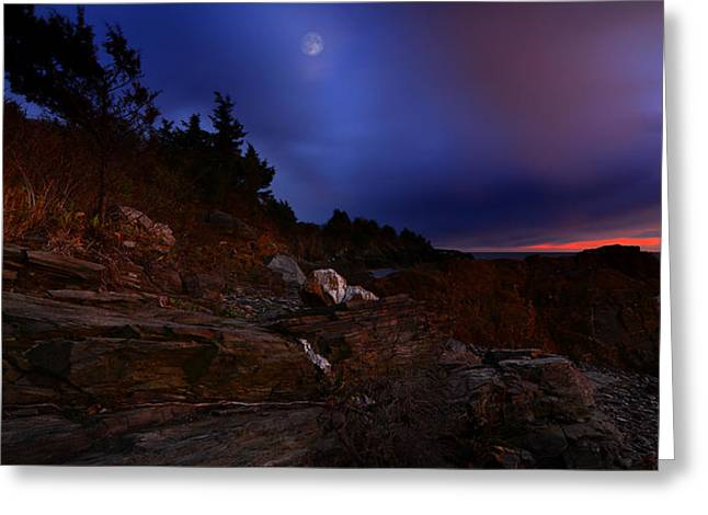 Getty Greeting Cards - Moon Serenade Greeting Card by Lourry Legarde