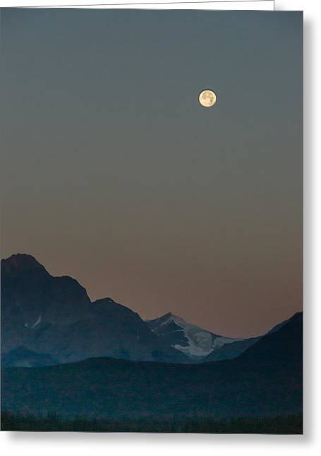 Moon Set Greeting Cards - Moon Set Alberta Canada 2 Greeting Card by Douglas Barnett