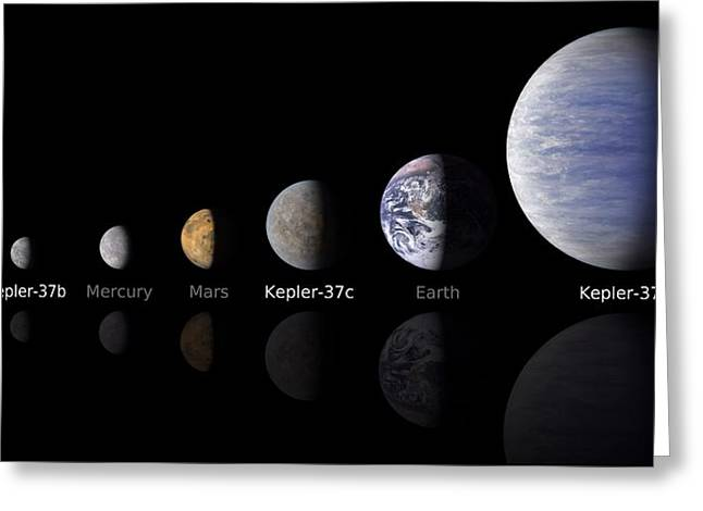 Planet Earth Greeting Cards - Moon size Line Up Greeting Card by Movie Poster Prints