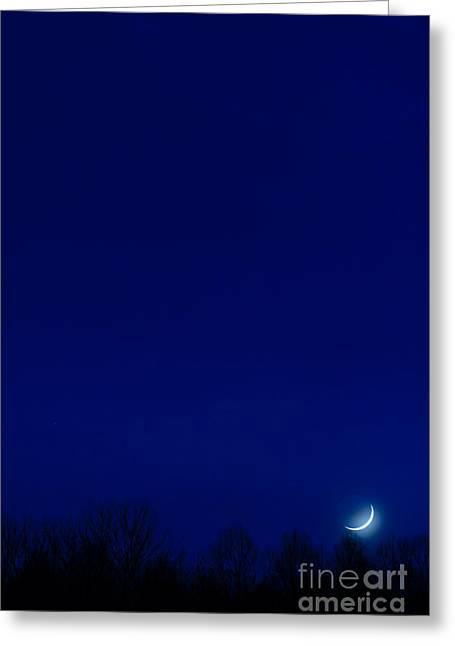 Luna Greeting Cards - Moon Sliver Greeting Card by Thomas R Fletcher