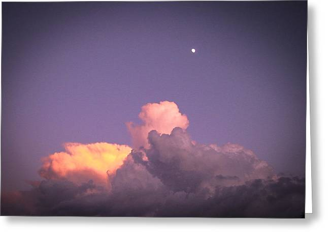 Moon Speck Greeting Card by Robert J Andler