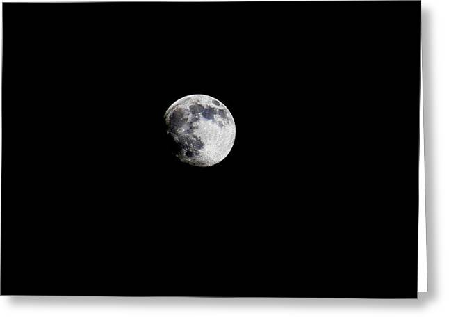 Intergalactic Space Photographs Greeting Cards - Moon Greeting Card by Stacy C Bottoms