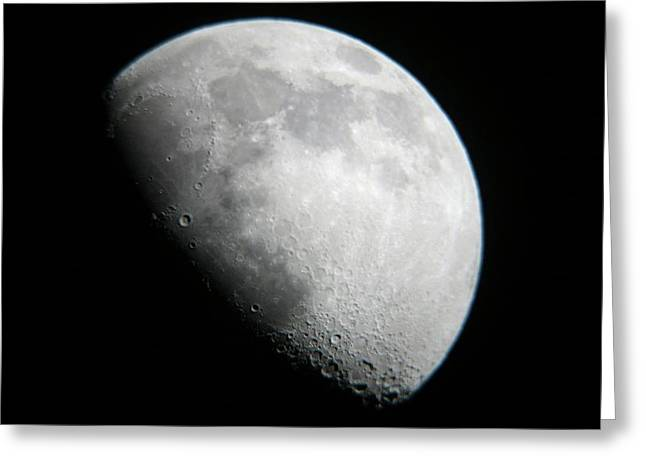 Moon View From Mamalluca Observatory Greeting Card by Dorling Kindersley/uig