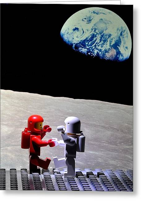 Lego Greeting Cards - Moondance Greeting Card by Mark Fuller