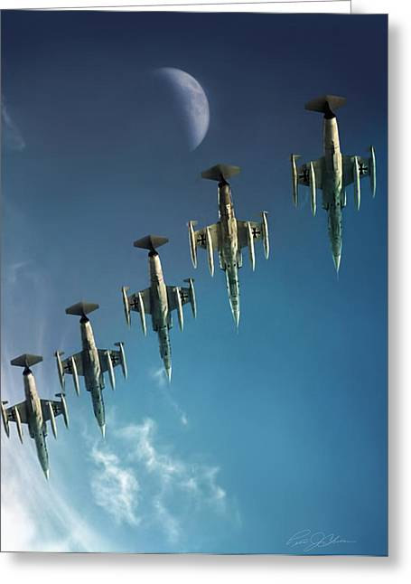Starfighter Greeting Cards - Moondance Greeting Card by Peter Chilelli