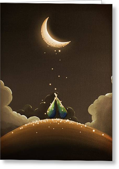 Crescent Greeting Cards - Moondust Greeting Card by Cindy Thornton