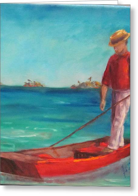 Dry Tortugas Greeting Cards - Mooney Harbor Greeting Card by Sarah Barnaby