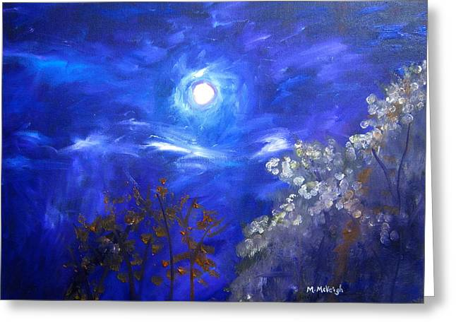 Moonglow Greeting Cards - Moonglow Greeting Card by Marita McVeigh