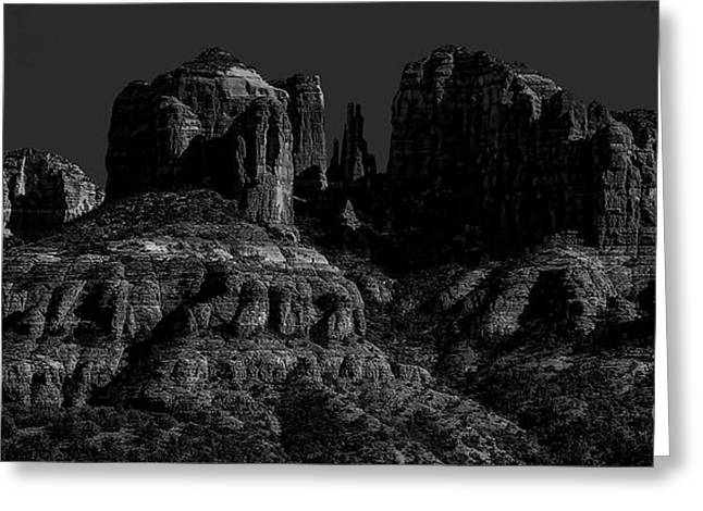 Moonlight Cathederal Greeting Card by Jon Burch Photography