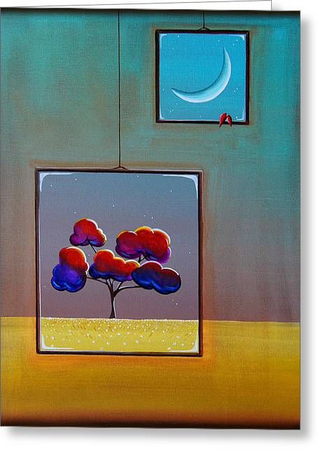 Moonlight Greeting Card by Cindy Thornton