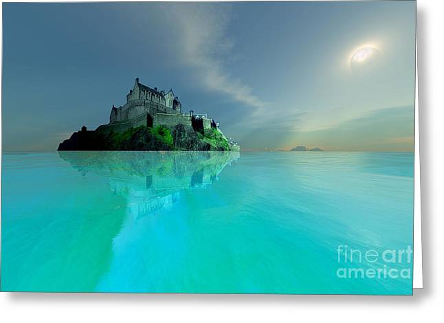 Ocean Images Digital Art Greeting Cards - Moonlight Greeting Card by Corey Ford