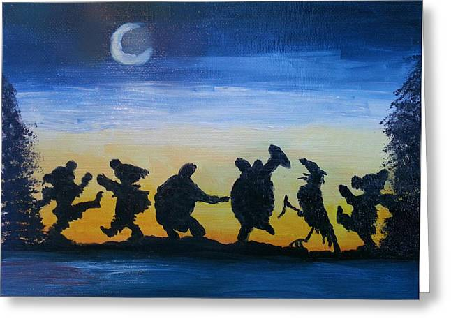 Grateful Dead Greeting Cards - Moonlight Dance Greeting Card by Barbara Cole