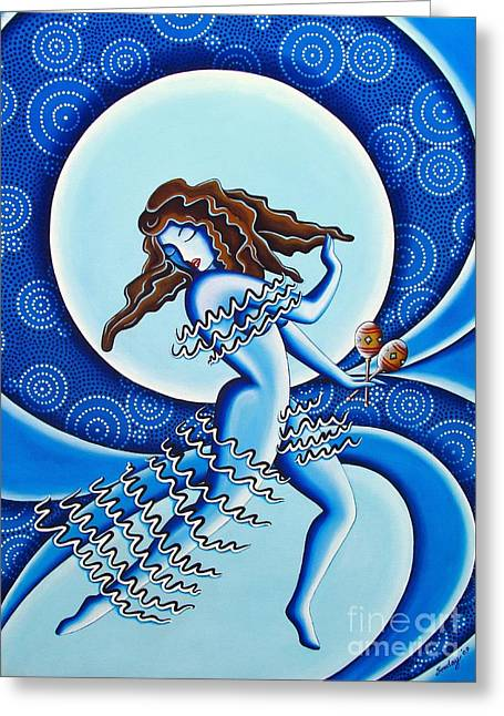 Moonlight Dancer Greeting Card by Joseph Sonday