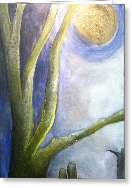 Tor Paintings Greeting Cards - Moonlight Dangled From Their Wrists Greeting Card by Tracie Hanson