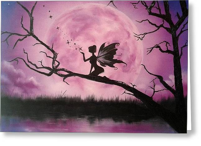 Limelight Greeting Cards - Moonlight Fairy Greeting Card by Ira Florou