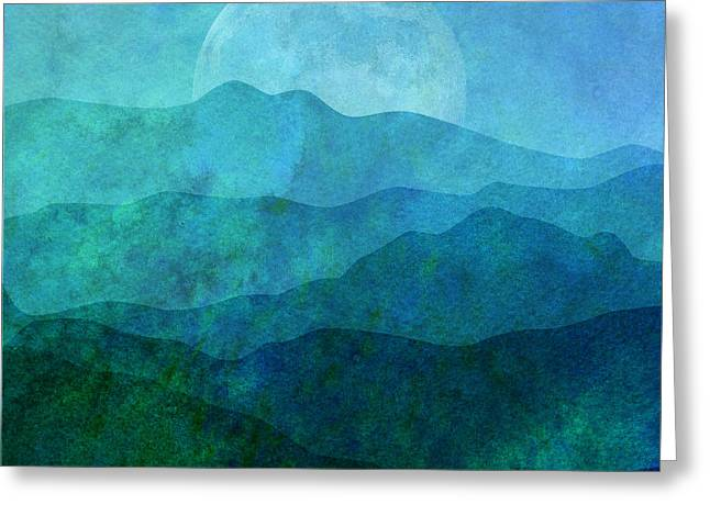 Moonlight Hills Greeting Card by Gary Grayson