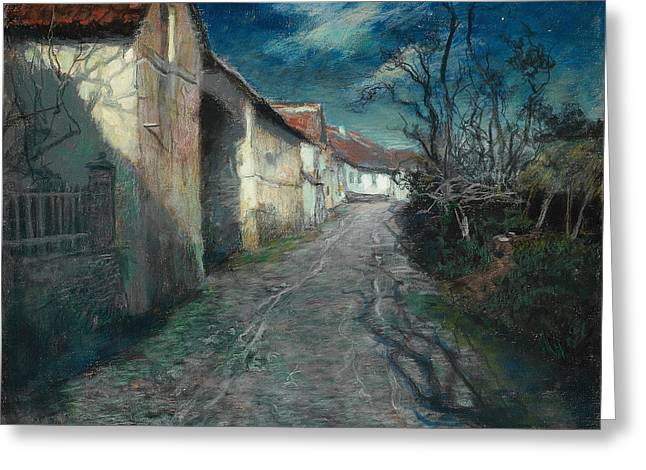 Thaulow Greeting Cards - Moonlight in Beaulieu Greeting Card by Frits Thaulow