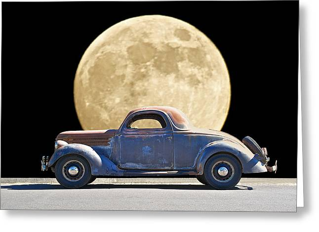 Family Car Greeting Cards - Moonlight Memories Greeting Card by Dave Koontz
