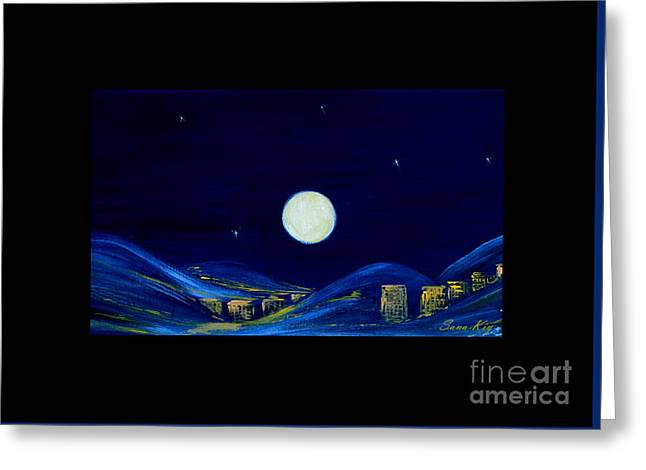 View Greeting Cards - Moonlight Greeting Card by Oksana Semenchenko