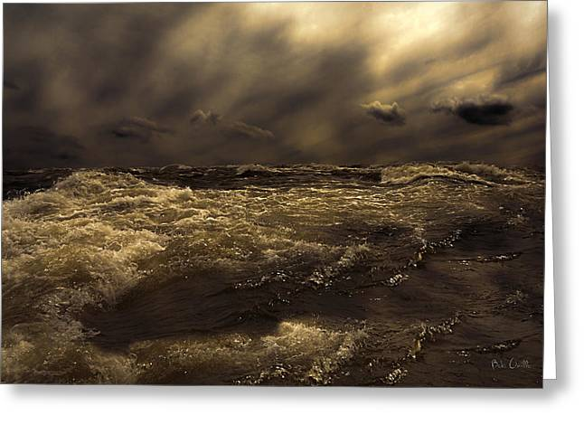 Moonlight On The Water Greeting Card by Bob Orsillo