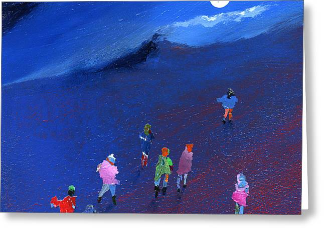 Neil Mcbride Greeting Cards - Moonlight Ramble Greeting Card by Neil McBride