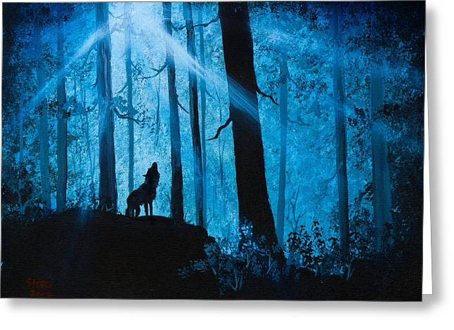 Moonlight Serenade Greeting Card by C Steele