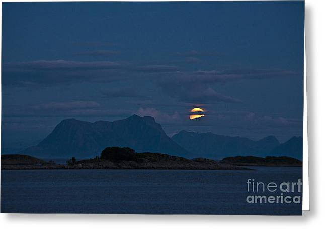 Moonrise Greeting Cards - Moonlight Series - 1 Greeting Card by Heiko Koehrer-Wagner