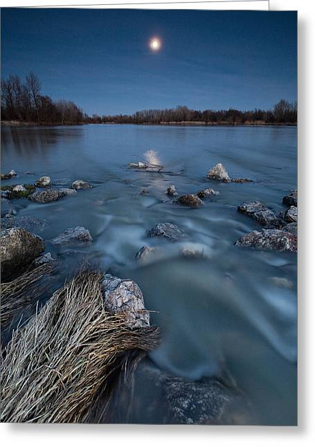 Moonscape Greeting Cards - Moonlight sonata Greeting Card by Davorin Mance