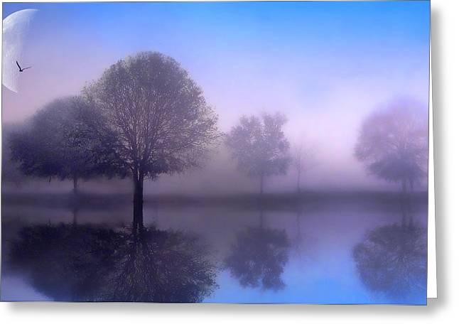 Moonlight Sonata Greeting Card by Jessica Jenney
