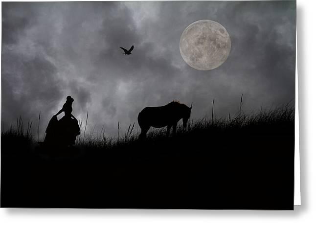 Moonlight Walk Greeting Card by Betsy C  Knapp