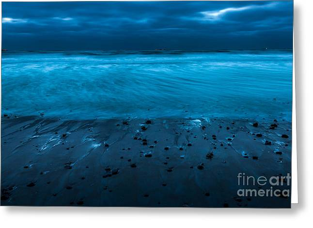 Sand Pattern Greeting Cards - Moonlit Flow Greeting Card by Susan Cole Kelly Impressions