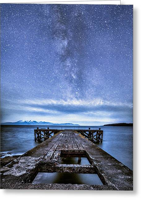 Ayrshire Greeting Cards - Moonlit Milky Way Greeting Card by John Farnan