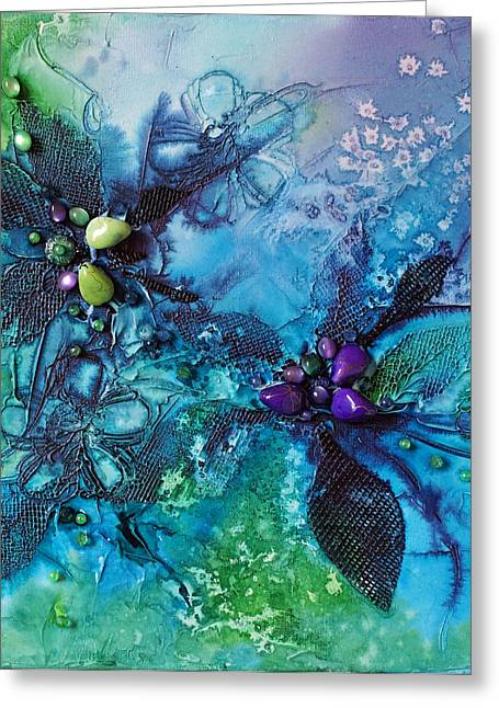 Moonlight Mixed Media Greeting Cards - Moonlit Moment Greeting Card by Joanne Smoley
