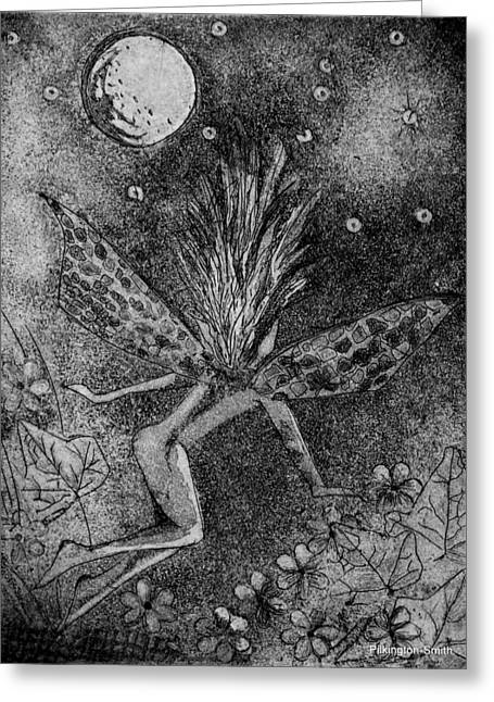 Fantasy Reliefs Greeting Cards - Moonlit Path Greeting Card by Stacey Pilkington-Smith